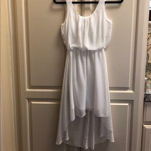 White high-low dress!